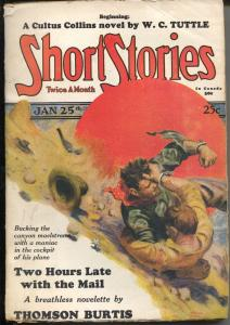 Short Stories 1/25/1929-Edgar F Wittmack cover-Alan LeMay-Ivan March-VG