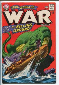 STAR SPANGLED WAR #134 1967-DC-DINOSAUR-PT BOAT-NEAL ADAMS-fn minus