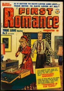 First Romance #9 1951-Harvey Comics- Moonlight Madness VG/FN