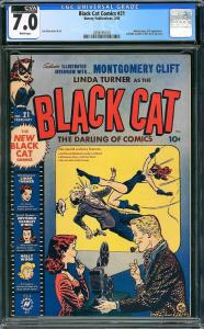 Black Cat Comics #21 (Harvey, 1950) CGC 7.0 CVA Exceptional