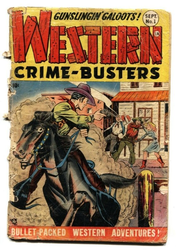 Western Crime-Busters #1 1950- Torture-Headlights- FR/G