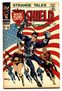 STRANGE TALES #167 comic book -Marvel-Steranko-Flag cover VF-