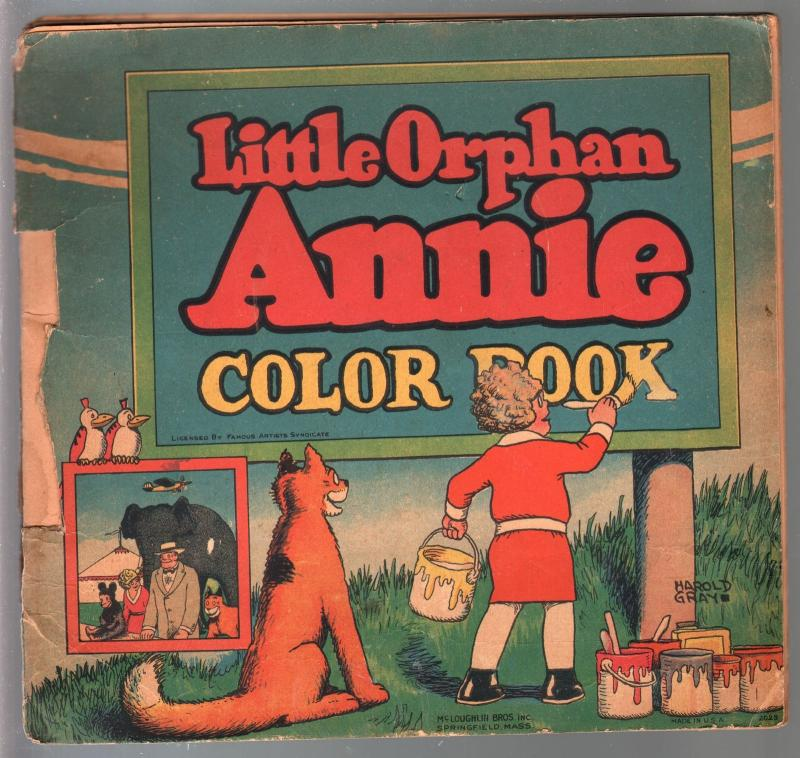Little Orphan Annie Color Book #2035 1930-Harold Gray art-P/FR