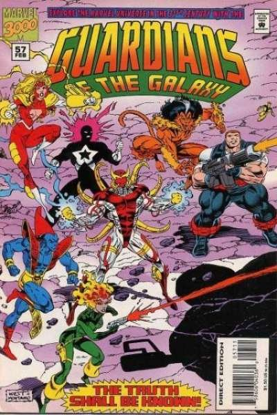 Guardians of the Galaxy (1990 series) #57, NM (Stock photo)