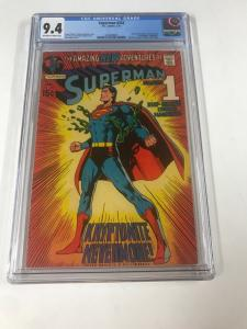 Superman 233 Cgc 9.4 Ow/w Pages Famous Neal Adams Dc