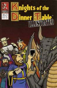 Knights of the Dinner Table Illustrated #5 FN; Kenzer and Company | save on ship