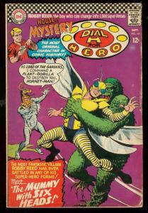 HOUSE OF MYSTERY #161 1966-DIAL H FOR HERO-MUMMY G/VG