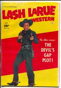 Lash LaRue #23 1951-portrait photo cover-G/VG