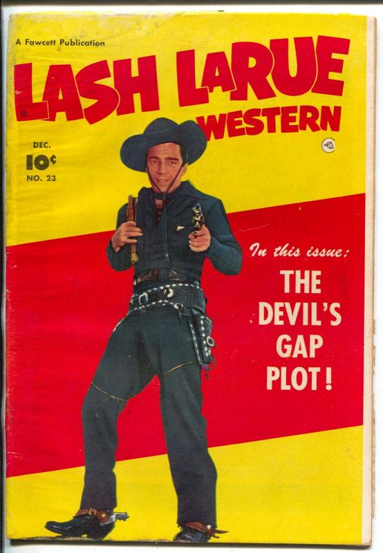 Lash LaRue #23 1951-portrait photo cover-G/VG
