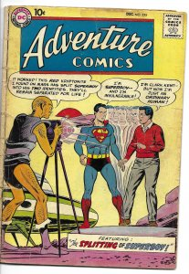 Adventure Comics #255 DC 1958 Superboy 2nd Red Kryptonite story Curt Swan cover