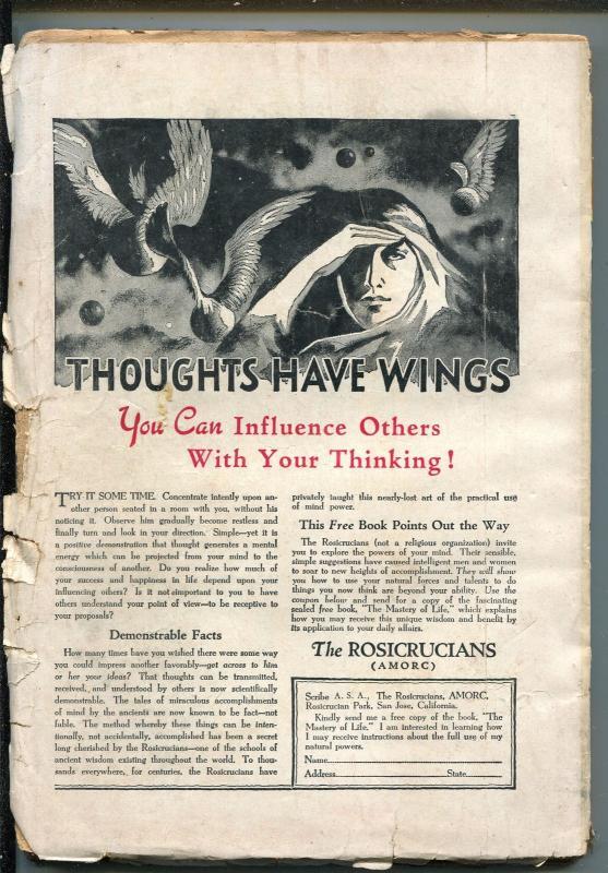 Fantastic Adventures Pulp October 1951- Decapitation cover