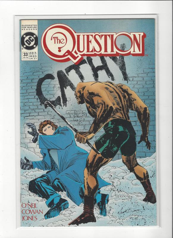 The Question #33 Mature Readers VF/NM Nice Copy