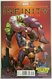 INFINITY#1 NM 2013 MIDTOWN VARIANT EDITION MARVEL COMICS
