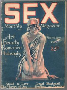 Sex Monthly Magazine 2/1927-art-beauty-spicy pix-rare pulp-G