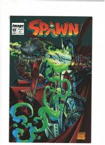 Spawn #15 VF+ 8.5 Image Comics Todd McFarlane, Medieval Spawn vs. Violator