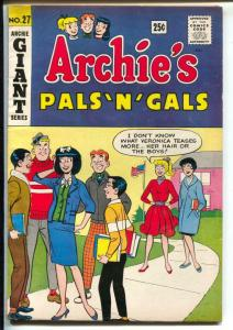 Archie's Pals 'N' Gals-#27 1963-Giant Series-Betty-Veronica-pin-up Page-VG/FN