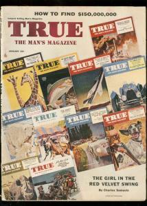 TRUE MAGAZINE JAN 1954-FAWCETT-RED VELVET-MEALS FOR MEN VG