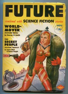 FUTURE SCIENCE FICTION-11/1950-SPICY SPACE GIRL-JAMES BLISS-PULP-vg