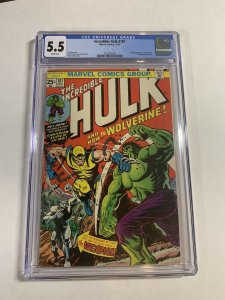Incredible Hulk 181 Cgc 5.5 White Pages Marvel Bronze Age Wolverine X-men