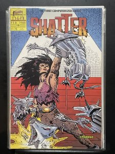 Shatter #13 (1988) First comic done entirely on a computer.