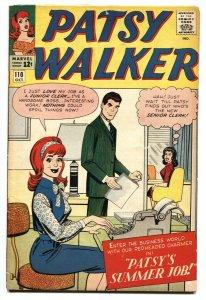 PATSY WALKER #110 Marvel 1963 comic book Paper Dolls