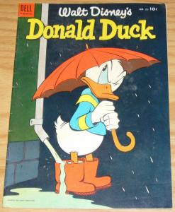 Walt Disney's Donald Duck #35 FN- may-june 1954  umbrella/rain - golden age dell