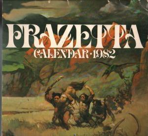 Frazetta Calendar 1982-faulous Frank Frazetta fantasy art-G/VG
