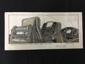 Nicola Cuti Animated TV Series Original Concept Art - Stealth Copter interior