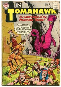 TOMAHAWK #82 comic book 1962- DC WESTERN -SCI FI ISSUE-CAVE MONSTER-  VG