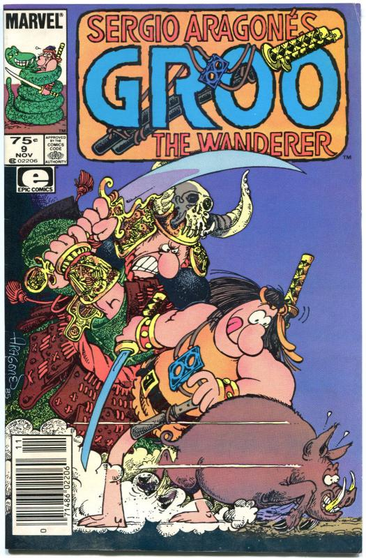 GROO the WANDERER #9, 11, 12, 13, VF/NM, 4 issues, Sergio Aragones,more in store