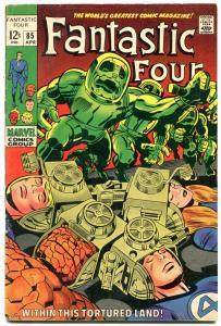 FANTASTIC FOUR #85 comic book 1969-Marvel DR DOOM vg