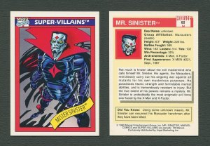1990 Marvel Comics Card  #65 (Mister Sinister) / MINT