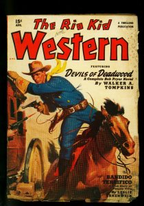 The Rio Kid Western April 1950 Thrilling Pulp-Louis L'Amour G/VG