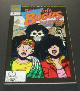 Bill & Ted's Bogus Journey #1 NM/NM+ High Grade Marvel Comic Book Movie TV
