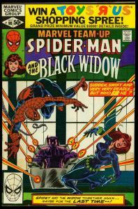 Marvel Team-Up #98 1980- Spider-man - Black Widow - NM