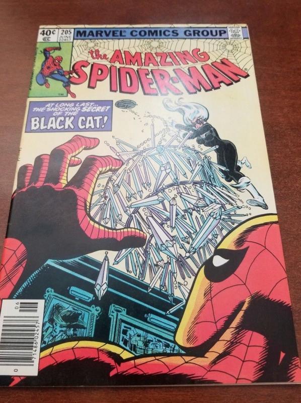 The Amazing Spider-Man #205, Marvel, Black Cat-VF/NM