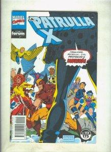La Patrulla X volumen 1 numero 112: Demasiados mutantes (numerado 1 en trasera)