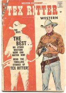 TEX RITTER WESTERN #38-1957-WYATT EARP APPEARS-GUNFIGHT-CHARLTON