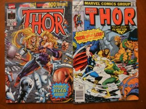 2 Marvel Comic: THE MIGHTY THOR #275 (1978) & THOR #500 Double-Sized (July 1996)