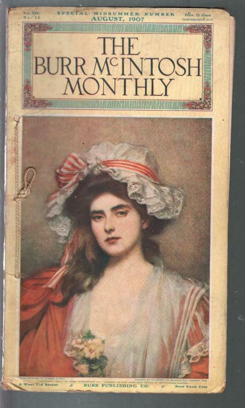 Burr McIntosh Monthly 8/1907-Lillian Russell-Albert Lynch-Coney Island-VG