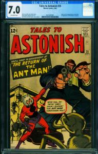 TALES TO ASTONISH #35 1962-ANT-MAN ORIGIN-CGC 7.0 2001003001