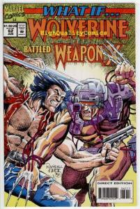 WHAT IF #62, Wolverine vs Weapon X, Busiek, 1989, NM+