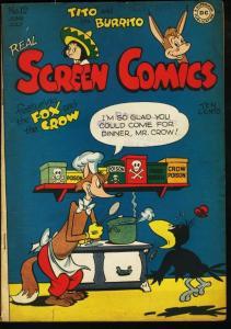 REAL SCREEN COMICS #12-FOX AND CROW-TITO AND BURRITO VG/FN
