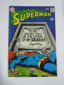 SUPERMAN (1939-1986) 213 VG+ Jan 1969