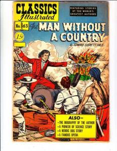 Classics Illustrated #63 (Dec-50) VG- Affordable-Grade