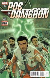 Poe Dameron #3 VF/NM; Marvel   save on shipping - details inside