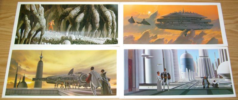 Star Wars: the Empire Strikes Back Portfolio by Ralph McQuarrie (24 plates) 1980