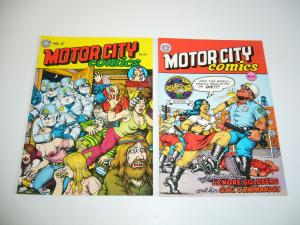 Motor City Comics #1-2 VF complete series - robert crumb underground 6th/5th