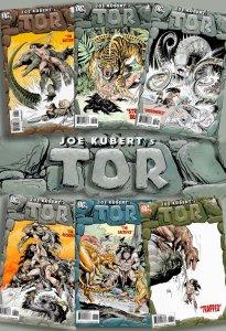 Complete Series! - Joe Kubert's TOR #1-#6 DC 2008 Incredible Prehistoric Action!