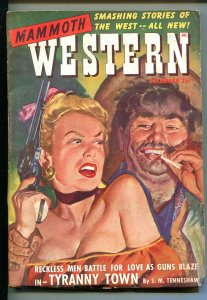 MAMMOTH WESTERN 12/1949-ZIFF-DAVIS-MEXICAN BANDIT-SPICY BABE-PULP ACTION-vg/fn